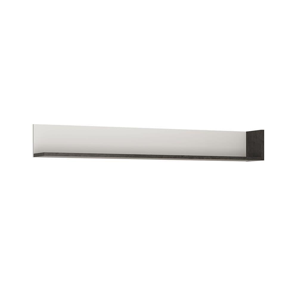 Lagos Wall shelf 163 cm in Slate Grey and Alpine White